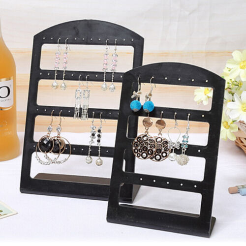 24//48 Hole Earrings Jewelry Display Rack Plastic Stand Holder Storage Showcase s