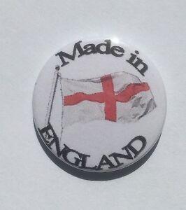Made In England Button Badge, England Flag Badge
