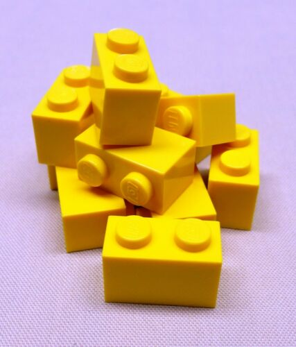 x10 NEW Lego Yellow Bricks 1x2 1 x 2 Bulk Brick Lot