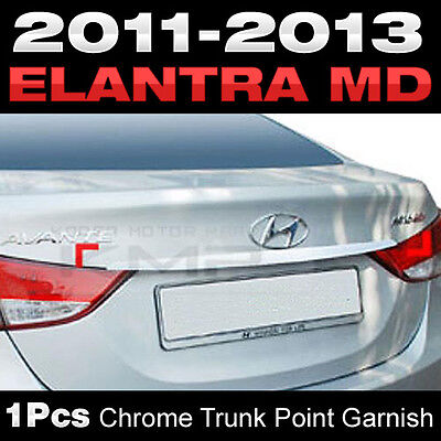 Chrome Bonnet Hood Point Garnish Molding Cover for HYUNDAI 2011-2016 Elantra MD