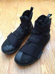 Seducir la nieve Por  Nike LeBron Zoom Soldier 10 Mens Size 8 Black Space 844374-001 | eBay