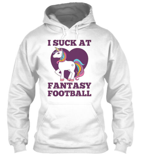 I Suck At Fantasy Football Party Unicorn Gildan Hoodie Sweatshirt