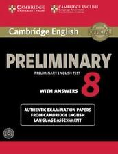 Cambridge English Preliminary 8 Student's Book Pack (student's Book With Answ...
