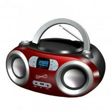 Supersonic Bluetooth Portable Stereo MP3/CD Player FM Radio USB AUX-IN SC-509BT