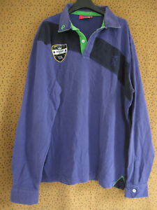 Polo vicomte A vintage Coton Violet Broderie Aspen Maillot Rugby - XXL