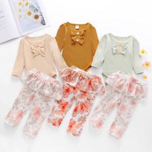 Infant-Newborn-Baby-Girls-Romper-Tops-Jumpsuit-Floral-Pants-Clothes-Outfits-Set