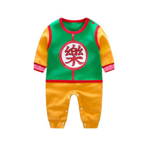 Baby Boy Dragon Ball Z Newborn Costume Romper Vegeta Goku Jumpsuit Infant Outfit