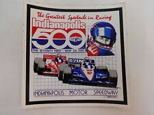 1987 Indianapolis 500 Event Decal Stricker Indy 500