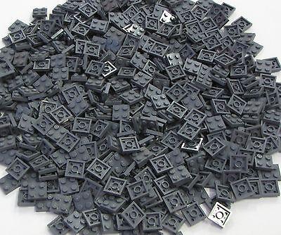 Lego Bulk Lot of 500 Black Plates Round 1 x 1 Straight Side Pieces