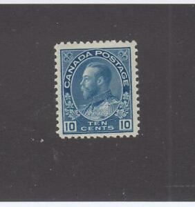 CANADA-119-VF-MLH-10cts-1922-KING-GEORGE-V-ADMIRAL-ISSUE-BLUE-CAT-VAL-80