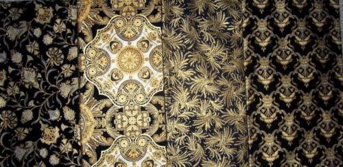 KAUFMAN PREMIUM FABRIC - VALLEY OF THE KINGS 2- SET OF 4 FABRICS - BLACK