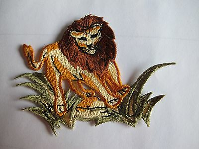 """#2996 2-1//2/"""" Cartoon Lion Embroidery Iron On Applique Patch"""