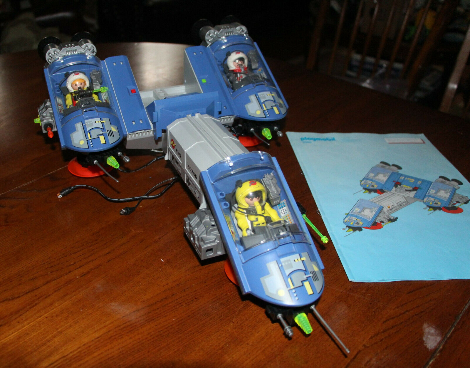 Playmobil Space Station Starship  3080 with Instructions Manual.