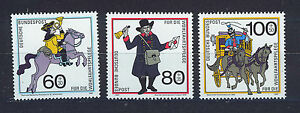 ALEMANIA-RFA-WEST-GERMANY-1989-MNH-SC-B682-B684-History-of-mail-carrying