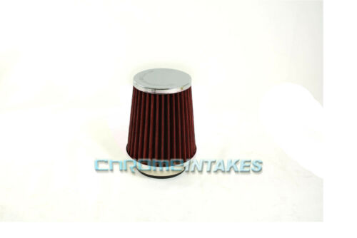 """RED UNIVERSAL 2.75/"""" 70mm SMALL AIR FILTER FOR INFINITI SHORT//COLD AIR INTAKE"""