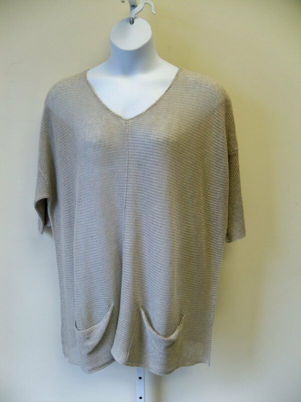 Match Point Light Weight Sweater  M L XL 1X 2X 3X   NWT Natural Linen