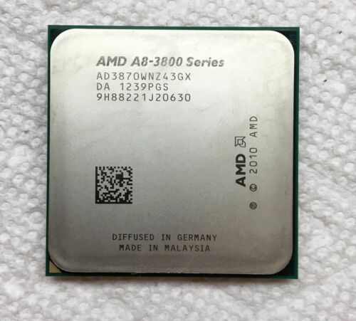 AMD A8-Series A8-3870K 3 GHz Quad-Core CPU Processor AD3870WNZ43GX Socket FM1