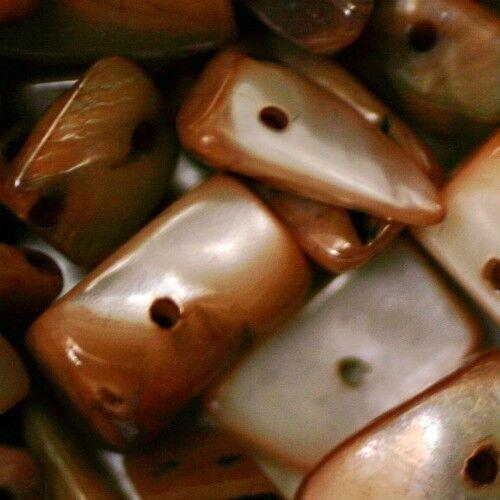 10 Perles CHIPS irrégulières Nacre Irisée Rose Mordoré    5 à 10 mm en moyenne