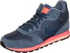 Nike MD Runner Womens UK 7 EU 41 Navy Blue & Orange 807172-448 Sneaker Trainers