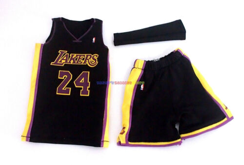 1//6 NBA Los Angeles Lakers 24 Kobe Bryant Black Away Jersey For Enterbay Figure