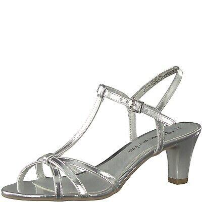 Tamaris Damen Sandalette silber Größe 37 41 28329 22 ELEGANT Aurea | eBay