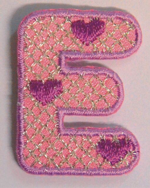 Girls Alphabet Letters/Numbers Embroidered Motif Fabric Iron On Patch Badge