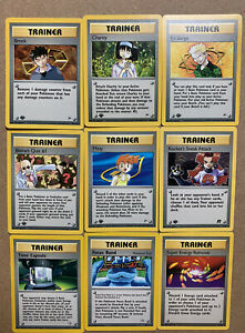 Lot-Of-40-First-Edition-Rare-Old-School-Trainer-Pokemon-Cards-NM