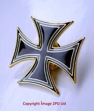 ZP214 Maltese Cross VersionB Iron Cross Biker Motorcycle Pin Badge German Gothic