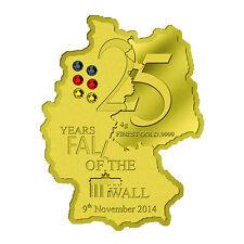 5000 Francs 2014 Gabun - 25 Jahre Fall der Berliner Mauer  / Berlin Wall Fall Au