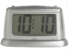 Acctim 14847 Juno Smartlite® Large digit Alarm Clock In Silver (our ref 4ROBP)