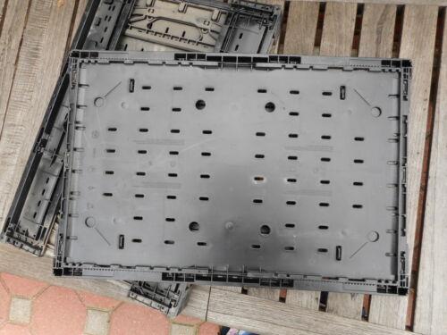 Faltkiste Lagerkiste  60 x 40 x 11,5 cm guter Zustand 3 Stück Stapelkiste