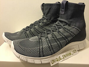 premium selection 35d65 8efcf Image is loading NIKE-FREE-FLYKNIT-MERCURIAL-SP-DARK-WOLF-GREY-