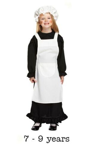 7-9 ans Victorian Pauvre Fille Costume Maid Fancy Dress Filles Livre Jour Kids