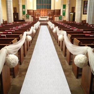 60ft Church//Venue Carpet Decoration Personalised WEDDING AISLE RUNNER 20ft