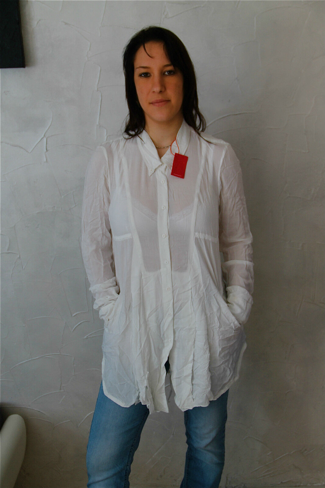 Tunic Tunic Blouse White M& François Girbaud Actreform T.S New Label