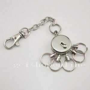 3-X-Swivel-Multi-Removeable-Detatchable-Key-ring-5-removable-Keyring-Chain-GBPPP