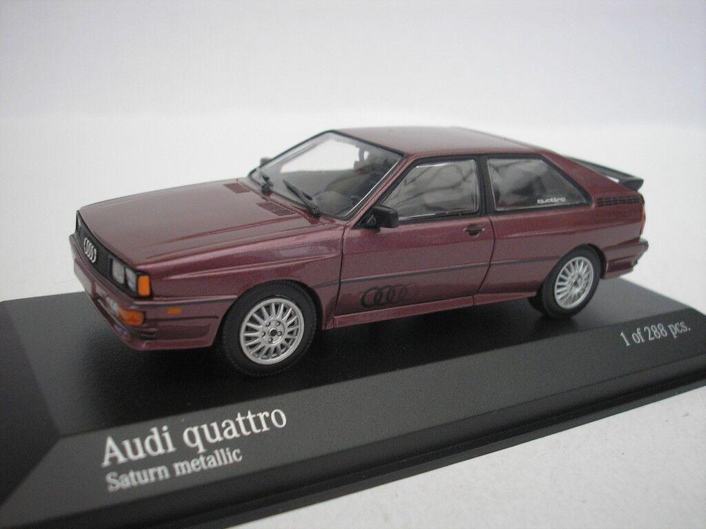 AUDI QUATTRO 1980 SATURN METALLICO 1/43 Minichamps 430019429 NUOVO