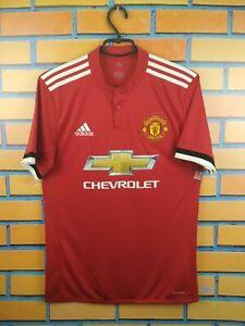 Manchester United Jersey 2017 2018 Home S Shirt BS1214 Soccer Football Adidas