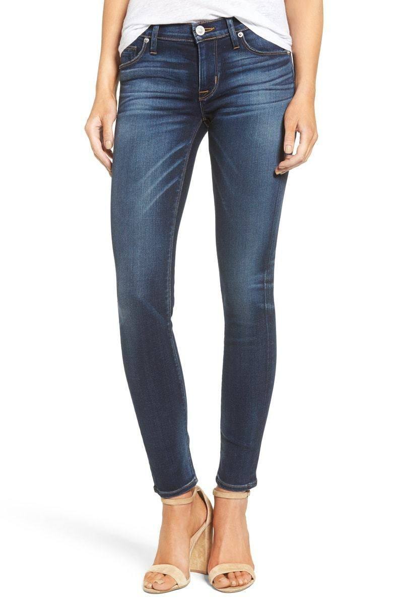 410 HUDSON JEANS WOMEN'S NICO blueE MID-RISE SKINNY FIT DENIM JEANS SIZE 24