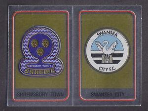 Panini - Football 84 - # 426 Shrewsbury /Swansea Foil Badge