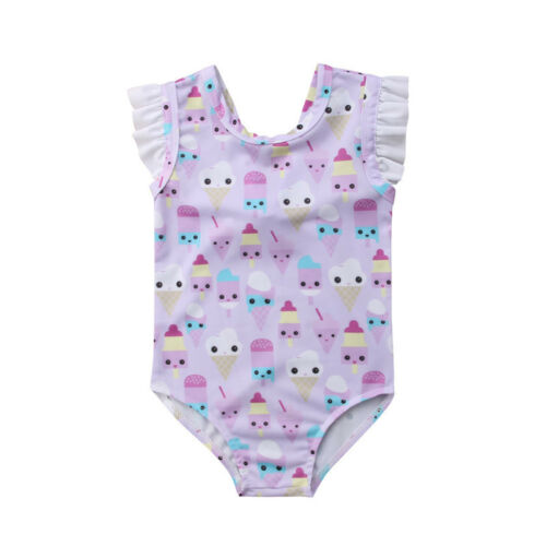 UK Kids Baby Girls Flamingo Bikini Swimwear Swimsuit Bathing Suit Swimming hytre