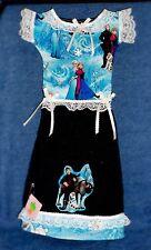 **NEW** Handmade Disney's Frozen Black Oven Door Dress Kitchen Hand Towel #454