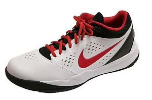 00c052107fdd Nike Zoom Attero White University Red Black Men s Basketball Shoes ...