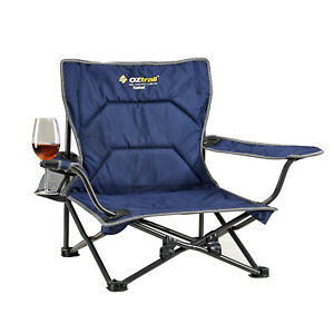Oztrail Short Low Legs Festival Folding Chair Fishing Seat