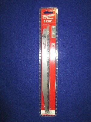 5-Pack Milwaukee 48-00-1301 Sawzall 9-Inch 5-Teeth per Inch Pruning Blade