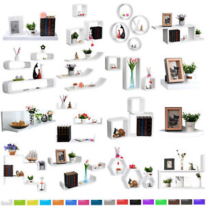 Cube-Wavy-Board-Fan-Shape-Floating-Wall-Shelves-Shelf-for-Store-amp-Decorative-u111