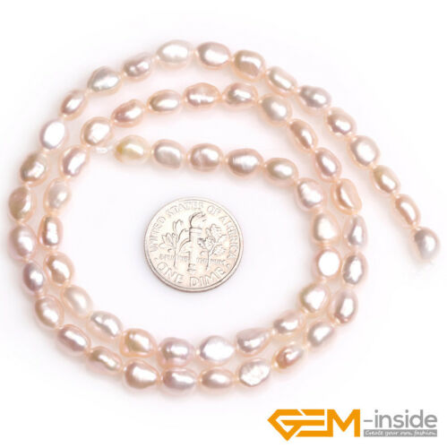 """5-6x6-8mm Freshwater Pearl Gemstone Rice Loose Beads For Jewelry Making 15/"""" YB"""