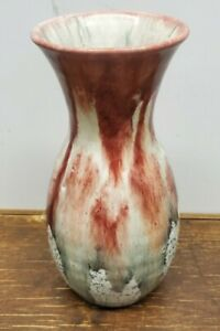 Italian Pottery Vase Mid Century Drip Glaze