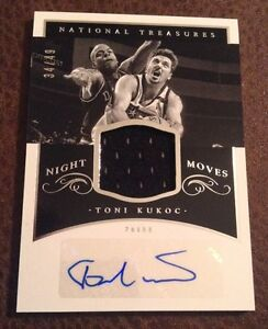 2014-15-National-Treasures-Toni-Kukoc-Patch-AUTO-Chicago-Bulls-34-49-Night-Moves