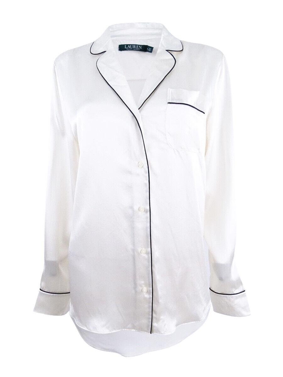 Ralph Lauren Women's Silk Pajama Shirt